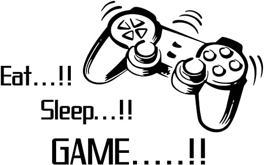com home game wall decals eat sleep game quote wall