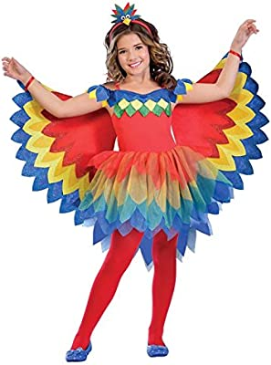 Disfraz de niña Bonita Loro para niños Medium (7-8 Years): Amazon ...