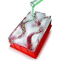Barbuzzo Ice Luge (doble vía): solo agregue agua, póngalo en el congelador y en 24 horas usted tiene su propio Luge congelado: enfríe sus bebidas alcohólicas favoritas en el Luge: perfecto para el entretenimiento en el hogar