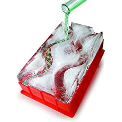 Barbuzzo Ice Luge (Double Track) - Just Add Water, Pop in the Freezer, and Within 24 Hours You Your Own Frozen Luge - Chill Your Favorite Spirits down the Luge - Perfect for Home Entertaining