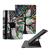Tsmine RCA Viking II 10.1 Tablet Rotating Case - Universal Protective Fashion Printed Rotary Leather Case Stand Cover for RCA Viking II 10.1 Tablet , Luck Tree