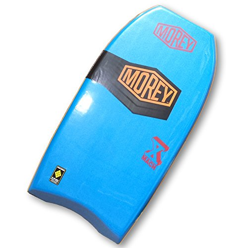 "Morey Mach 10 Team Series 41-1/2"" Slick Bottom Bodyboard with Power Rod Stringer and Mesh (Turquoise)"