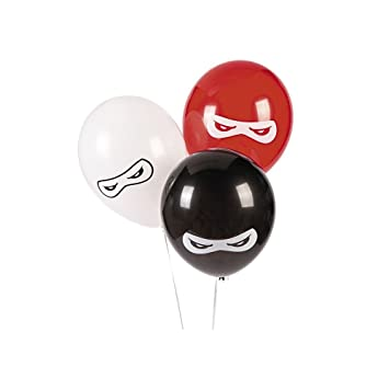 Fun Express BB13628879 Ninja Warriors 11 in. Latex Balloons ...