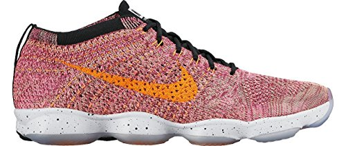 Nike Womens Flyknit Zoom Agility, Pink Pow/Black/Sport Fuchsia/Bright Citrus (6)