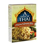 A Taste of Thai Coconut Ginger Rice, 7-Ounce Packages (Pack of 12)
