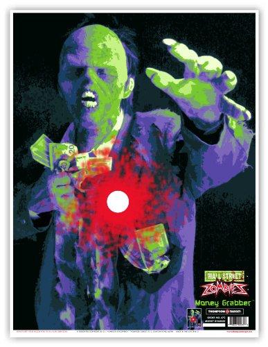 Money Grabber Zombie - Paper Gun Range Shooting Targets 19x25 Inch (5 Pack)