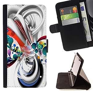 Momo Phone Case / Flip Funda de Cuero Case Cover - Líneas de líquido blanco burbujas de plástico - Samsung Galaxy S3 III I9300
