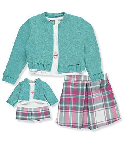 Zip Jacket & Knit Skirt - 9