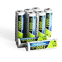 PowerDriver 1000mAh Aa Ni-CD NiCD Rechargeable Batteries for Flashlights Solar Lamp Lights (8)