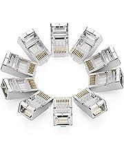UGREEN Cat6 Ethernet Connector 10 Stuks Ethernet Kabel RJ45 Connector voor Cat6 Cat5 8P8C Ethernet Stekker voor Patchkabel, Netwerkkabel en Gigabit Lan Kabel