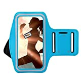 ZLOSKW Armband for iPhone 7 Plus 6 Plus 6s Plus, Portholic Workout Arm Band for Samsung Galaxy S6/S7 Edge s8/s8 Plus, Note 8, Note 2/3/4/5, for Hiking,Biking,Walking,Jogging (sky blue)