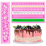 DOERDO 2 Pieces 3D Rope Mold Pearl Fondant Mold