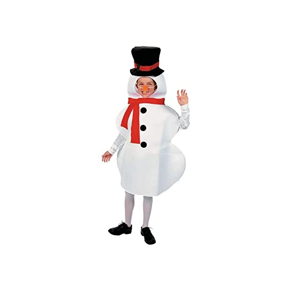 Snowman Winter Holiday Child Costume Photo NWT 4-14 Years