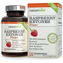 NatureWise Raspberry Ketones Plus+ Advanced Antioxidant Blend with Green Tea...