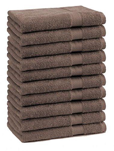 9 opinioni per Betz Set di 10 lavette Premium misura 30 x 30 cm 100 % cotone Color marrone