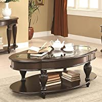 Coaster 703848 Home Furnishings Coffee Table, Dark Merlot