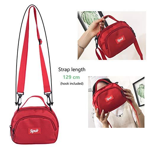Petite Portable à Rouge Pochette Téléphone Fille en avec Poches pour Sacs Main Ado Enfant Sac Mini Feu Bandouliere Sac en Tissu Rechor 2 Sq6w78W