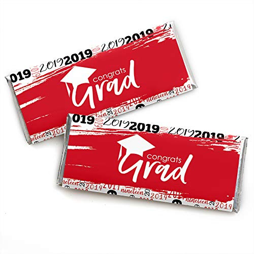 (Red Grad - Best is Yet to Come - Candy Bar Wrapper Red 2019 Graduation Party Favors - Set of 24)