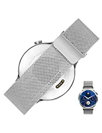 Huawei Watch Band, Rerii Magnetic Closure, Milanese, Mesh Stainless Steel, Quick Release, 18mm Watch Band