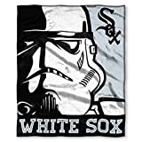 """Officially Licensed MLB Chicago White Sox Disney's Star Wars Co-Branded """"Intimidation"""" HD Silk Touch Throw Blanket, 50"""" x 60"""", Multi Color"""