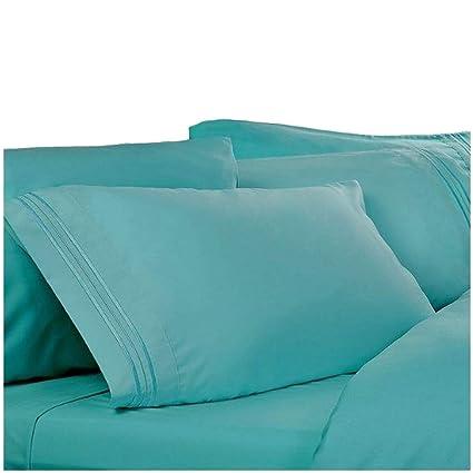 Amazon Com Queen Sheets Color Teal Blue 1800 Thread Count