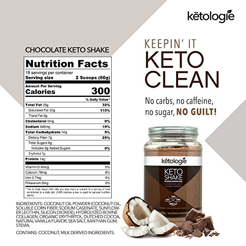 Ketologie Ultra Low Carb Protein Shake,...