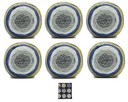 Bernat Pop! Yarn - 6 Pack with Pattern (Planetary)