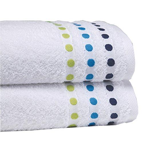 Sorema Colourful - Toalla para baño, de algodón, 70 x 140 cm, color azul: Amazon.es: Hogar
