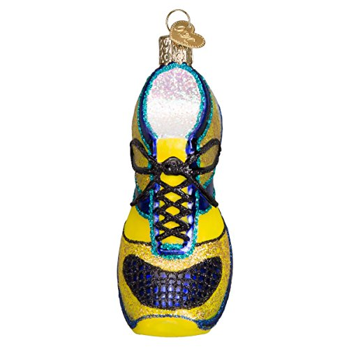 Old World Christmas Ornaments: Running Shoe Glass Blown Ornaments for Christmas Tree (Christmas Runner Ornament)
