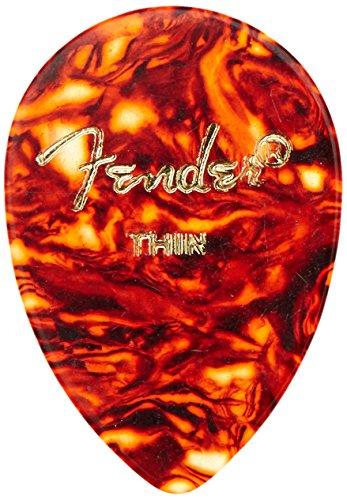 Fender Teardrop Pick : Fender tear drop shell guitar picks pack thin