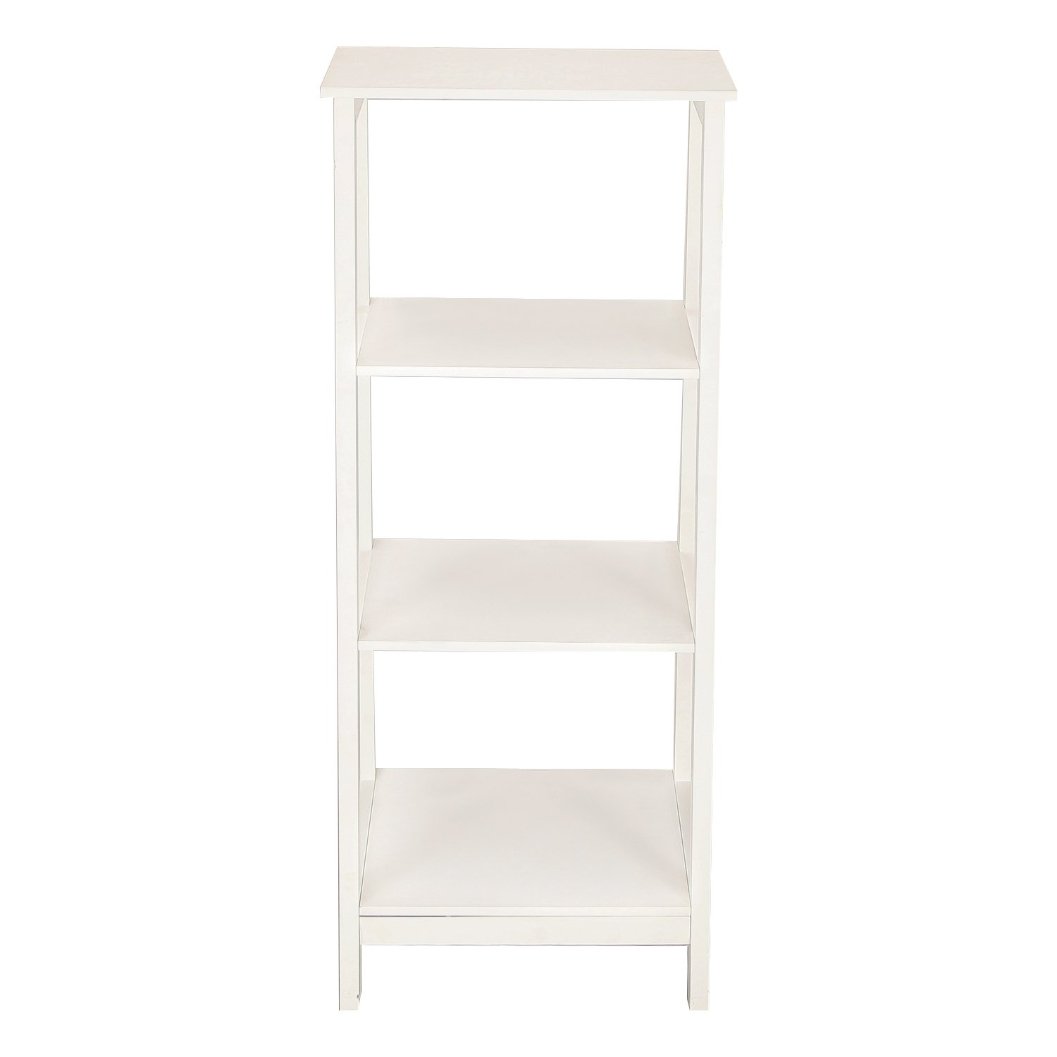 Adeco Simple Home Living Room Bed Room Bookcase/ Book Shelf (White Ivory)