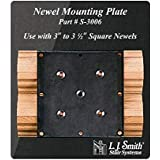 LJ-3006-O: Newel Mounting Plate with Red Oak Moulding