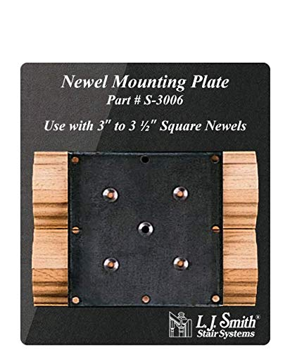 LJ-3006-H: Newel Mounting Plate with Hemlock Moulding
