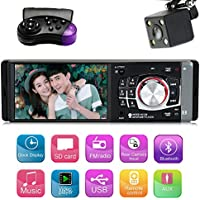 4.1 Inch Single Din Car MP5 Player with Bluetooth Car Audio Video Player FM Radio Car Stereo Reciverer Support Steering Wheel Remote Control
