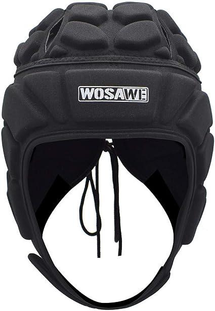 WOSAWE Goalkeeper Helmet Soft Shell Rugby Headguards Multi Sports Head Injury Protection Headgear