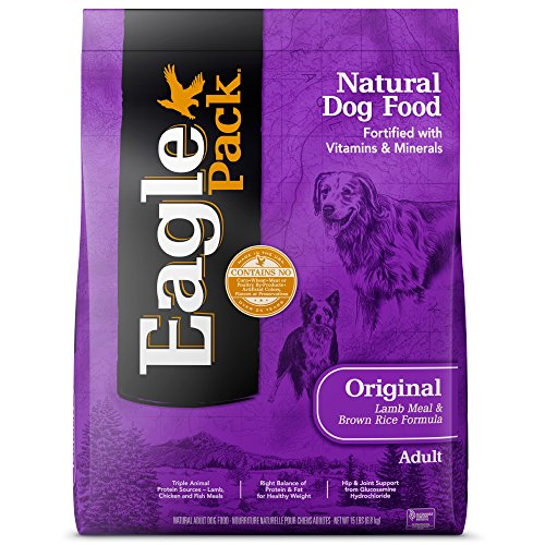 Eagle Pack Natural Dry Dog Food, Lamb & Rice, 15-Pound Bag