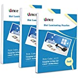 """Hot Thermal Laminating Pouches 5Mil - 4.25x6.25 Inches for sealed 4x6"""" Photo - 300 Sheets 4.5x6.5 inches Pack ,Uinkit 24 hours service , 3 years warranty"""
