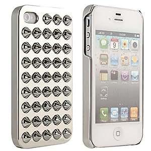 TY-El caso de protección Revestimiento de la carcasa del remache punky del estilo para el iPhone 4/4S , Rosado