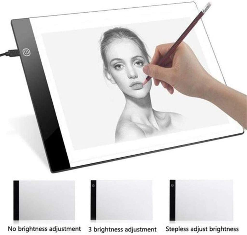 A A3 Ultra-Thin Portable LED Light Box USB Power Artcraft Tracing Light Pad for Drawing