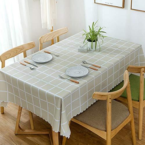 ALL LIKE Tischdecke spot Printing Nordic Plaid Stil Hotel konferenzraum tischdecke ölbeständig wasserdichte tischdecke PVC großen gelben Gitter 140 180 (geeignet für esstisch) (Schwarze Und Gelbe Gläser)