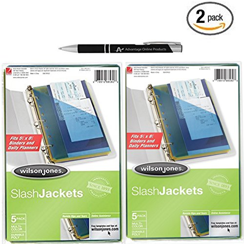 2 Pack Bundle Slash Binder Pockets Fits 5.5 x 8.5 inch Binders and Daily Planners with Bonus AdvantageOP Black and Chrome Retractable Pen supplier