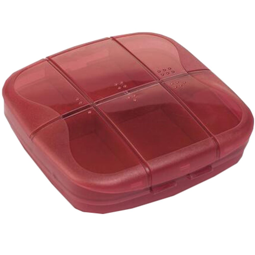 Portable Travel First-Aid Kit Medicine Storage Box Pill Sorter Container Red