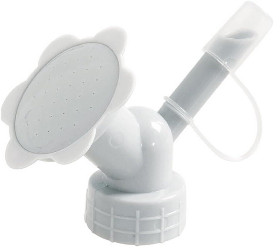 2 In 1 Plastic Sprinkler Nozzle, Portable Bottle Top Watering Garden Patio Plant Water Can Top Head, Flower Waterers Bottle Watering Cans Sprinkler Shower Head Gardening Tool for Seedling (Gray)