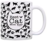 Best ThisWear Wife And Mom Coffee Mugs - Cat Lover Gifts Best Cat Mom Ever Kitty Review