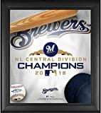 """Milwaukee Brewers Framed 15"""" x 17"""" 2018 NL Central Division Champions Collage - MLB Team Plaques and Collages"""