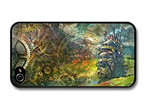 AMAF ? Accessories Howl's Moving Castle with Gears Pattern Fantasy Illustration case for iPhone 4 4S