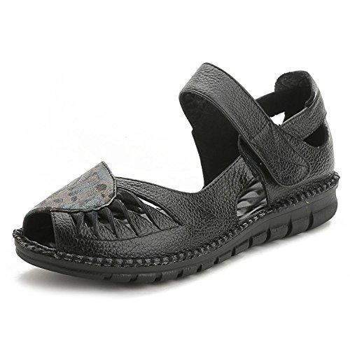 L@YC® Sandalias De Mujer Verano Dermatoglifos Flat Bottles Vestidos De Gran TamañO Bombas SatéN Vestidos De Novia Oficina De Zapatos Black