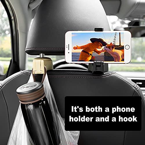 ETBIENTÔT Car Seat Hooks 2 Pack, 360° Rotation Organize Hangers, Universal Backseat Hook for Purse, Grocery Bag Handbag