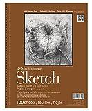 Strathmore 455-8 Strath Sketch S 400 5.5X8.5100SHT60LB, 5.5' 8.5', White...