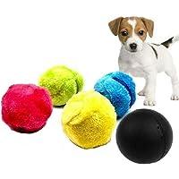 Sunshine D Magic Roller Ball Spielzeug, Automatische Roller Ball Hunde Elektro Spielzeug mit 4 Wollbezug Magic Bälle Hund Katze Welpenspielzeug